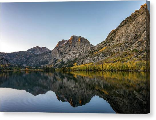 Silver Lake At Sunrise Canvas Print by K Pegg
