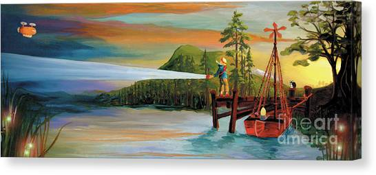 Silver Lake Canvas Print