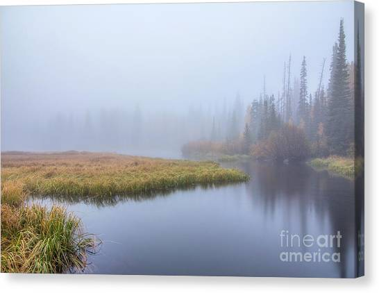 Silver Lake In The Clouds Canvas Print