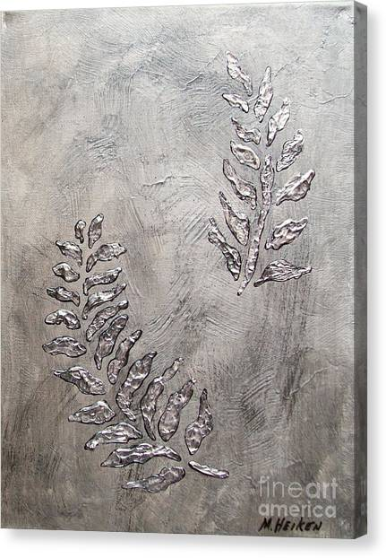 Silver Leaves Canvas Print