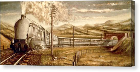Silver Link Steam Locomotive L.n.e.r.   25o9 Canvas Print by James Richardson