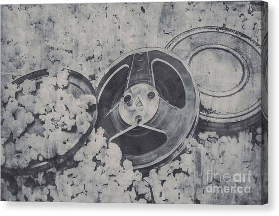Black And White Art Canvas Print - Silver Screen Film Noir by Jorgo Photography - Wall Art Gallery
