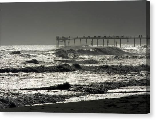 Silver Sea 1 Canvas Print by Alan Hausenflock