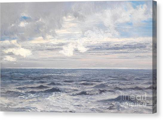 Horizons Canvas Print - Silver Sea by Henry Moore