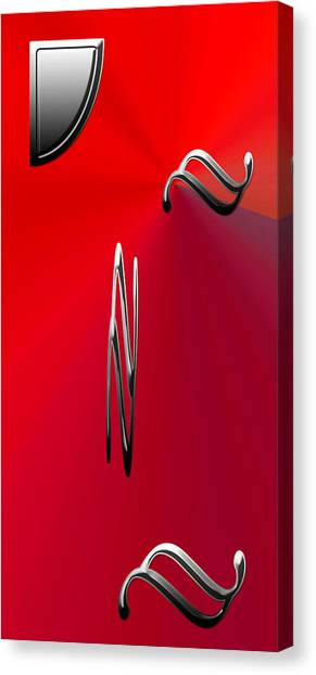 Splashy Art Canvas Print - Silver Shapes On Red by Aimee L Maher Photography and Art Visit ALMGallerydotcom