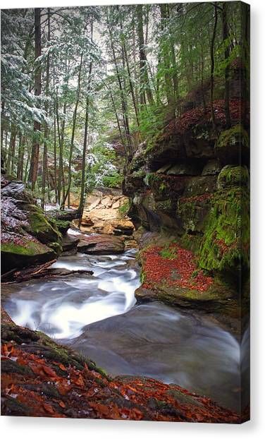 Silver Singing River Canvas Print
