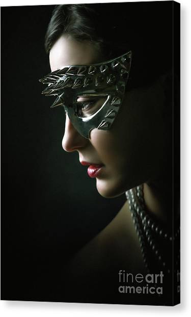 Canvas Print featuring the photograph Silver Spike Eye Mask by Dimitar Hristov