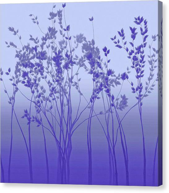 Canvas Print featuring the digital art Silver Twilight by Susan Maxwell Schmidt