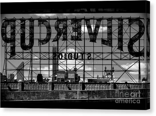 Silvercup Studios Sign Backside Canvas Print