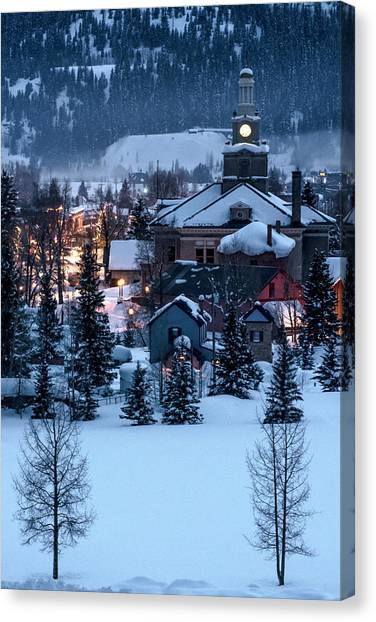 Silverton At Night Canvas Print
