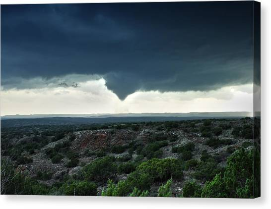 Silverton Texas Tornado Forms Canvas Print