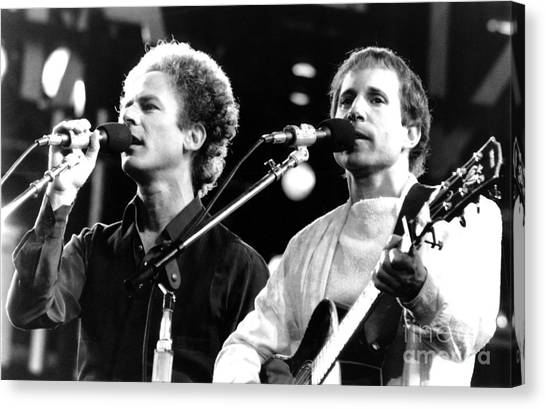 Chris Walter Canvas Print - Simon And Garfunkel 1982 by Chris Walter