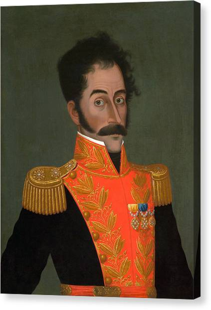 Venezuelan Canvas Print - Simon Bolivar Painting - Jose Gil De Castro by War Is Hell Store