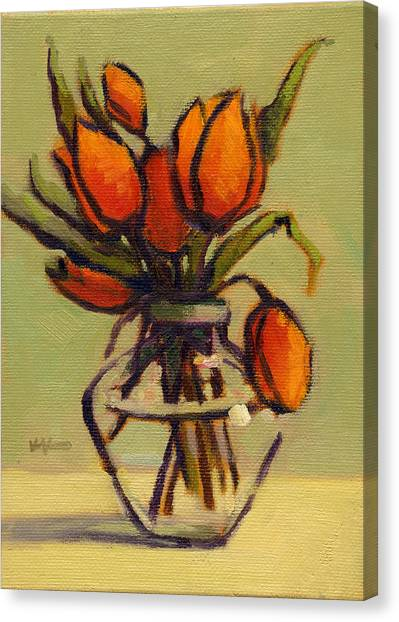 Canvas Print featuring the painting Simple Elegance by Konnie Kim