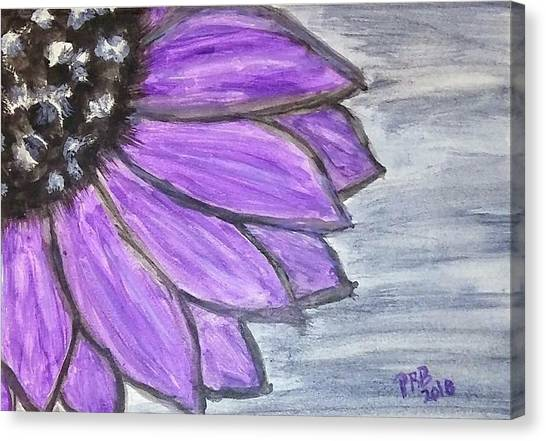 Canvas Print - Simple Purple  by Pamula Reeves-Barker