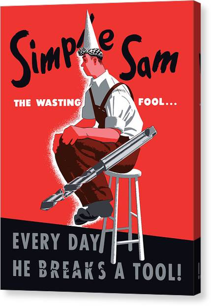 Conservation Canvas Print - Simple Sam The Wasting Fool by War Is Hell Store