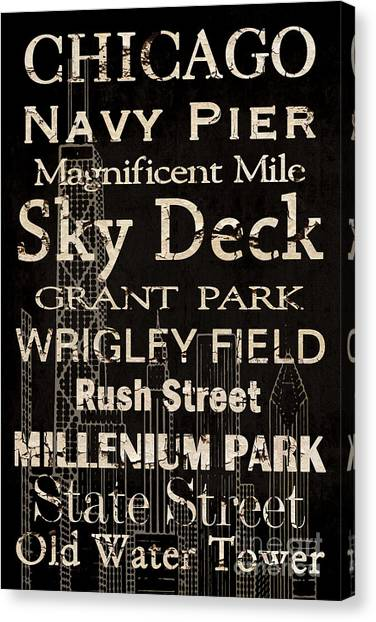 Wrigley Field Canvas Print - Simple Speak Chicago by Grace Pullen