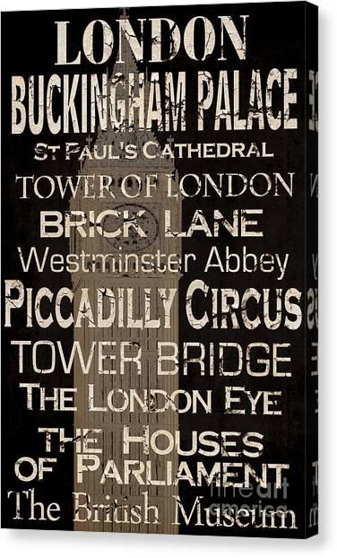 Big Ben Canvas Print - Simple Speak London by Grace Pullen