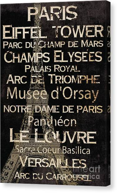 Paris Canvas Print - Simple Speak Paris by Grace Pullen