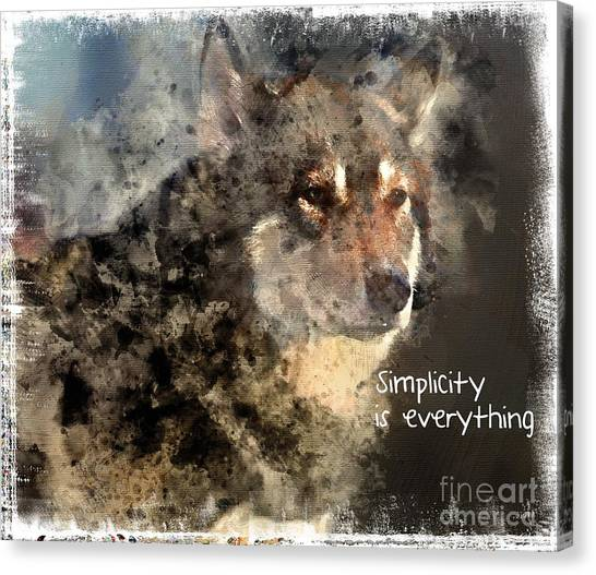 Simplicity Is Everything -light Canvas Print