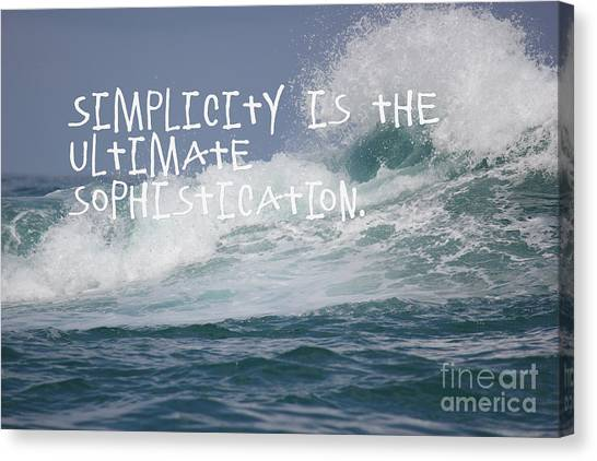 Canvas Print featuring the mixed media Simplicity by Wilko Van de Kamp