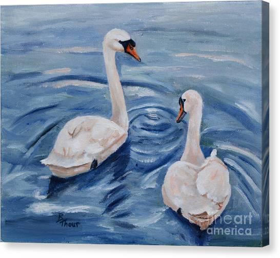 Simply Swans Canvas Print