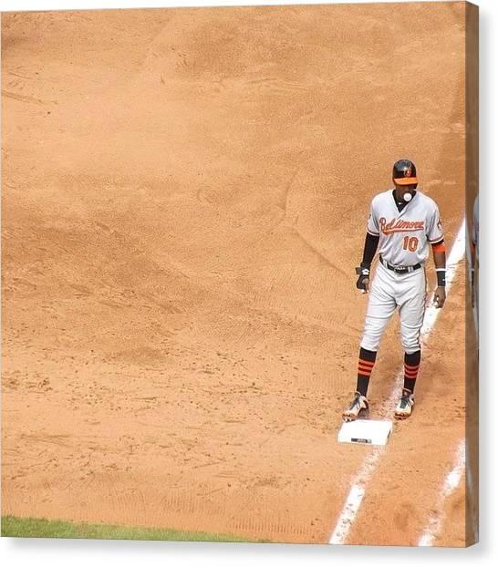 Baltimore Orioles Canvas Print - @simplyaj10 #adamjones #talented_igers by Pete Michaud