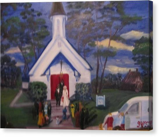 Simpson Christian Community Church Canvas Print by Gloria Condon