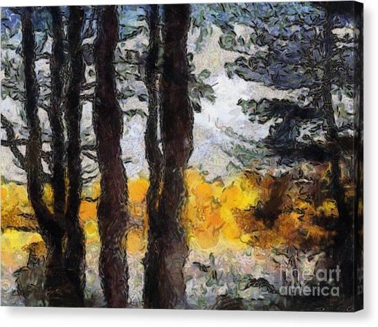 Simulated Van Gogh Scene Canvas Print