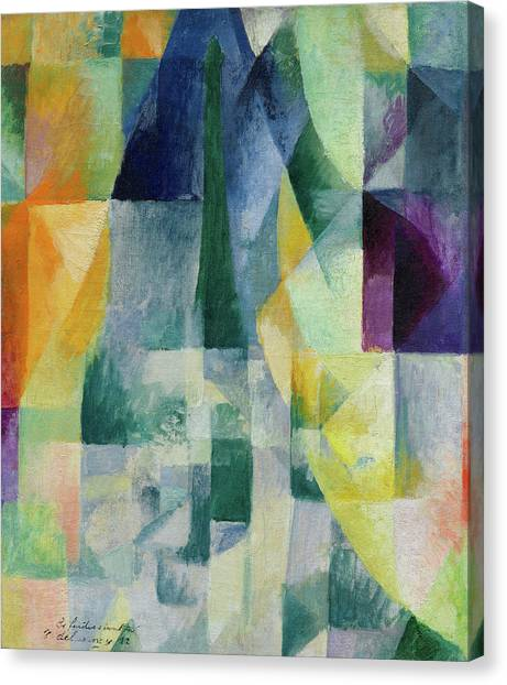 Lyrical Abstraction Canvas Print - Simultaneous Widows, 2nd Motif, 1st Part by Robert Delaunay
