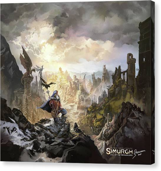 Simurgh Call Of The Dragonlord Canvas Print