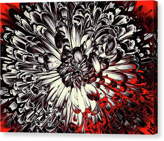 Canvas Print featuring the mixed media Sin City by Susan Maxwell Schmidt