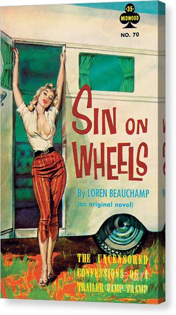 Pulp Fiction Canvas Print - Sin On Wheels by Paul Rader