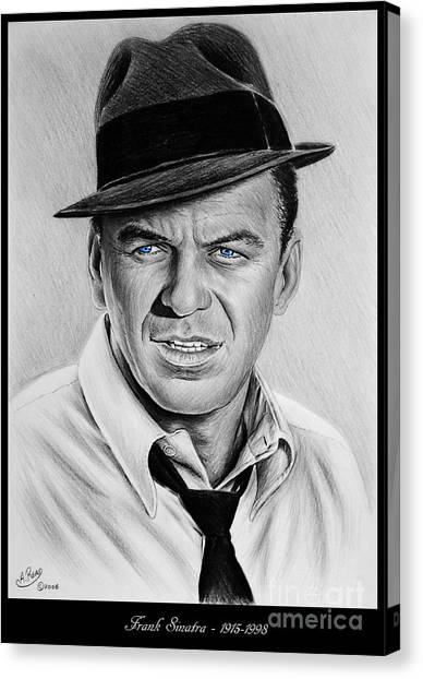 Frank Sinatra Canvas Print - Sinatra Blue Eyes Edition by Andrew Read