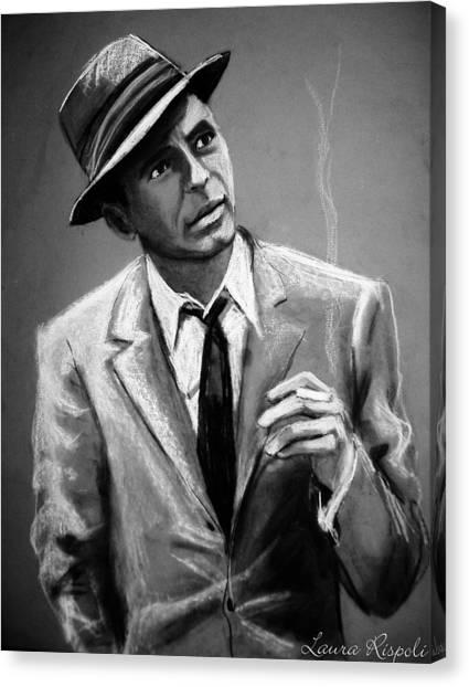 Frank Sinatra Canvas Print - Sinatra by Laura Rispoli