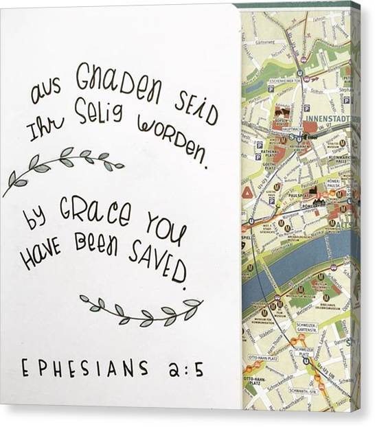 European Canvas Print - Saved By Grace by Nancy Ingersoll