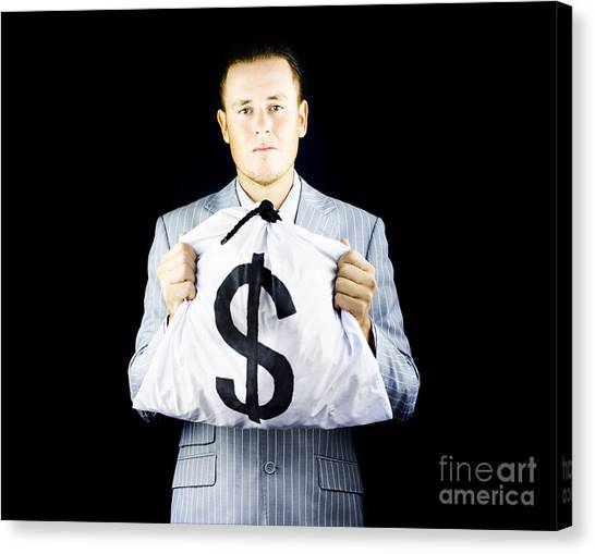Trustworthy Canvas Print - Sincere Banker Or Business Broker by Jorgo Photography - Wall Art Gallery