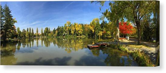 German Canvas Print - Sindelfingen Germany Lake Klostersee Panorama by Matthias Hauser