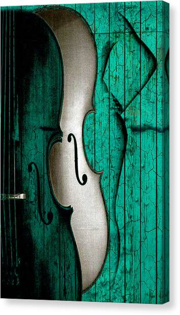 Violins Canvas Print - Sinful Violin by Greg Sharpe