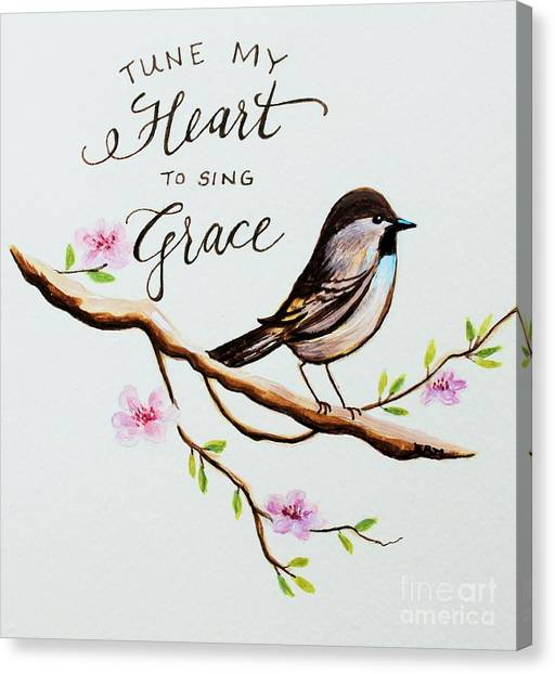 Garden Canvas Print - Sing Grace by Elizabeth Robinette Tyndall