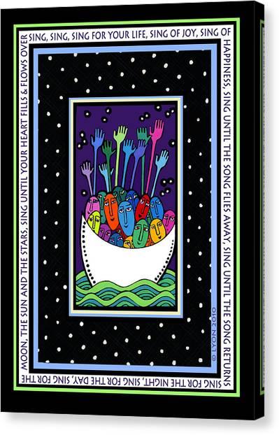 Sing Sing Sing Canvas Print