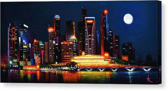 Singapore Aglow Canvas Print
