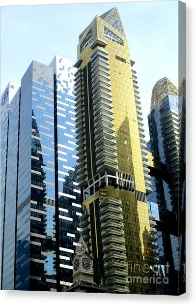 Singapore Skyline Canvas Print - Singapore Architecture 11 by Randall Weidner