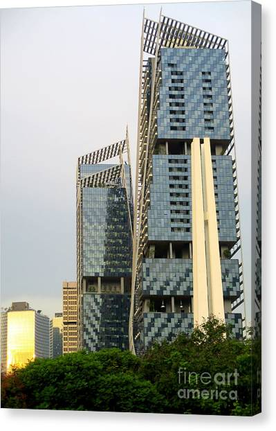 Singapore Skyline Canvas Print - Singapore Architecture 13 by Randall Weidner