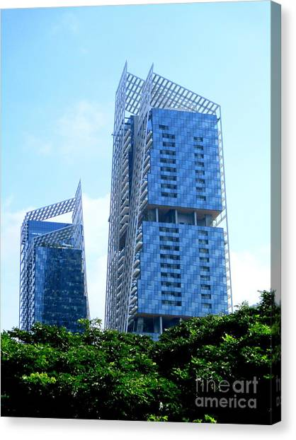 Singapore Skyline Canvas Print - Singapore Architecture 15 by Randall Weidner