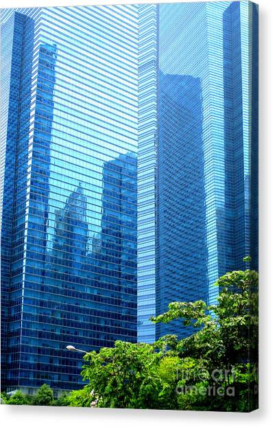 Singapore Skyline Canvas Print - Singapore Architecture 6 by Randall Weidner