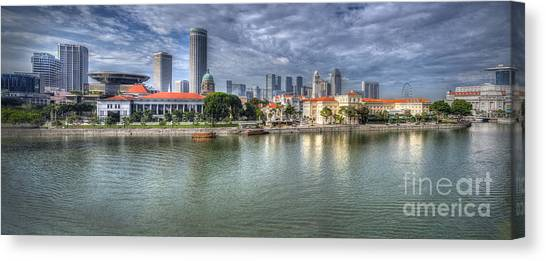 Singapore By Day Canvas Print