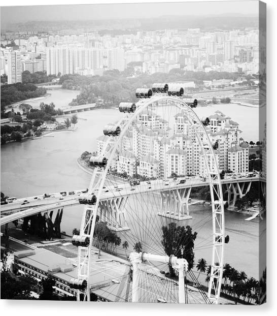 Flyer Canvas Print - Singapore Flyer by Nina Papiorek