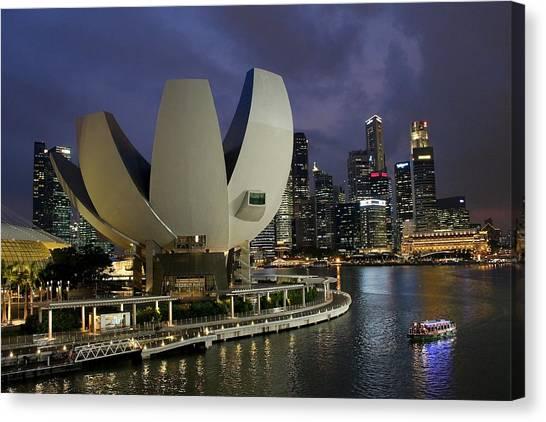 Singapore Harbor Canvas Print