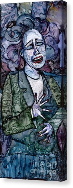 Singing Lady-blues Canvas Print
